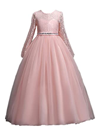 a88c53199777 Party Dresses for Toddler Girls Cute Princess Dresses Wedding Ceremony  Blush Ball Gowns 3-4