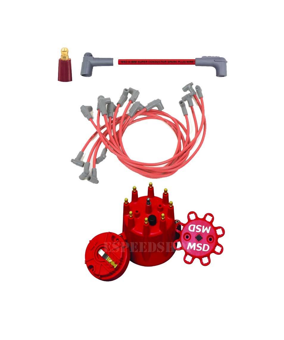 Amazon.com: MSD 35659K1 Cap/Rotor/8.5 Red Wire Set - Small Block ...