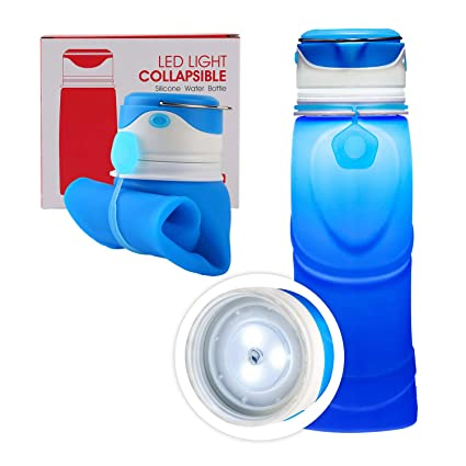 b96bb279a90f AUTENS Collapsible Water Bottle 550ml/750ml, Leak Proof, BPA Free, FDA  Approved, Wide Mouth, Lightweight Food-Grade Silicone Foldable Water  Bottle, ...