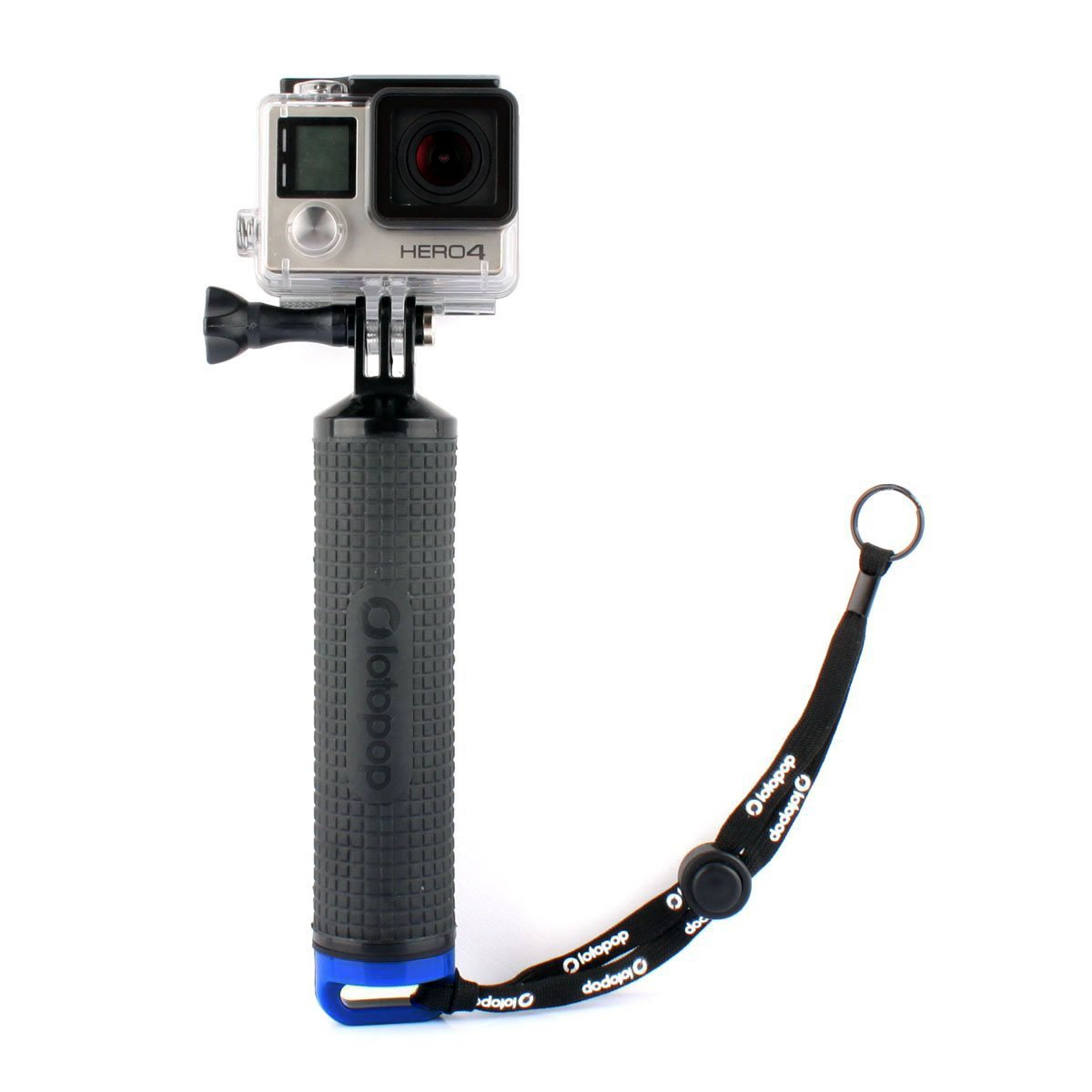 LOTOPOP Waterproof Floating Hand Grip for Gopro Hero 5 3+ 4 Session 3 - Handle Mount Accessories and Water Sport Pole for GeekPro 3.0 and ASX Action Pro Cameras Action Camera Accessories-Blue