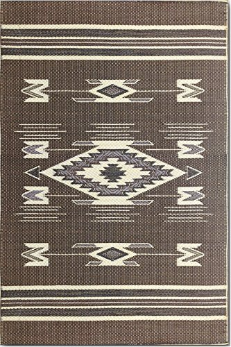 - Mad Mats Navajo Indoor/Outdoor Floor Mat, 4 by 6-Feet, Brown