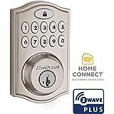 Kwikset 99140-023 SmartCode 914 Traditional Smart Lock Keypad Electronic Deadbolt Door Lock With SmartKey Security and Z…