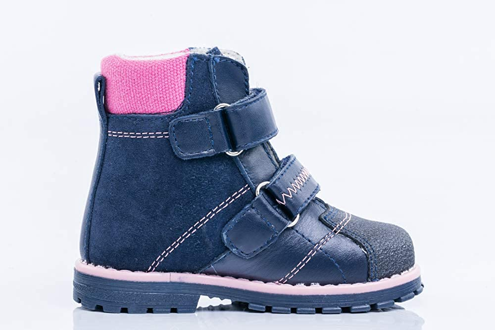Kotofey Girls Blue Boots 152171-33 Genuine Leather Shoes Wool Lining Wool Insole