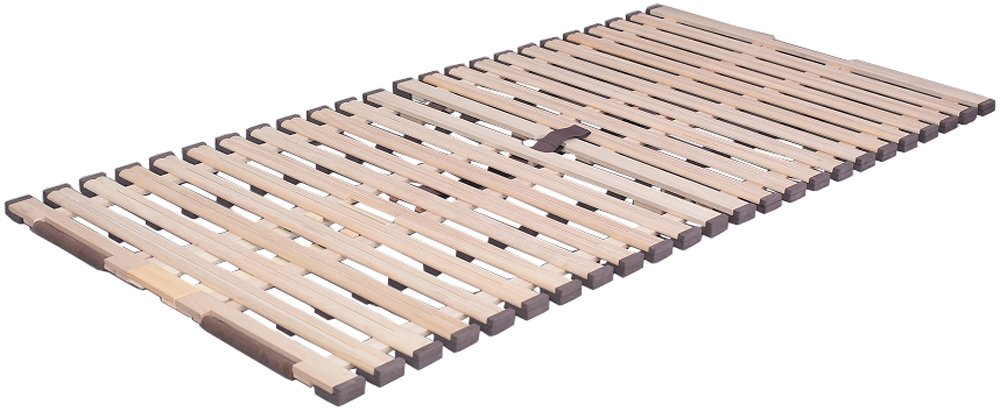 オスマック 立ち上げ簡単! 軽量 桐すのこベッド 4つ折れ式 ダブル 天然桐 通気性 KKF-410 B01DCTEZF6 ダブル|4つ折れ式  ダブル