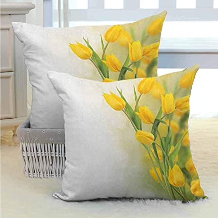 Cuscini Gialli Per Divano.Pillow Cover Federa Per Cuscino Decorativo Fiore Giallo Famiglia E