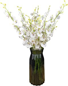 """Silk Flowers in Bulk Wholesale Artificial Orchids, 10 Pcs (Each 20""""), for Wedding Festive Party Home Office Decoration, Not Include Vase"""