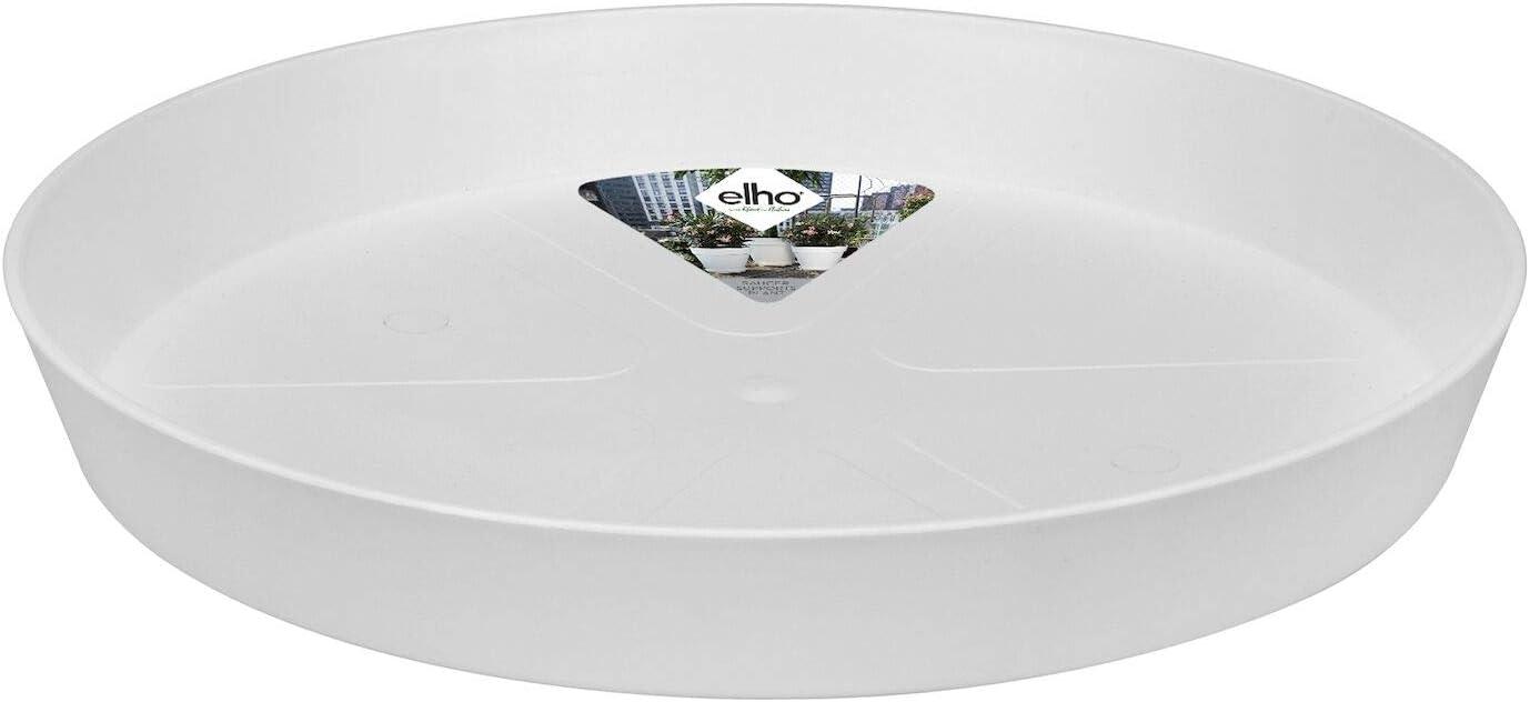 Elho Loft Urban Saucer Round 21 - White - Exterior - Ø 20.9 x A 2.9 cm