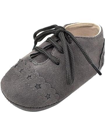 Zapatos De Bebé Niño Niña Zapatos Primeros Pasos Recién Nacidos Zapatillas Antideslizante De Encaje hasta Zapatos