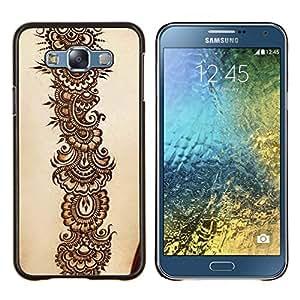 KLONGSHOP // Cubierta de piel con cierre a presión Shell trasero duro de goma Protección Caso - Dragón bordado - Samsung Galaxy E7 E700 //