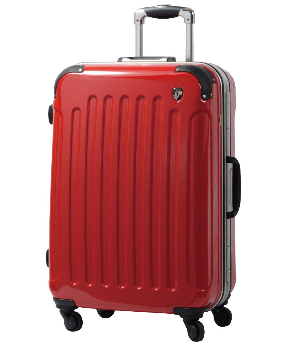 [グリフィンランド]_Griffinland TSAロック搭載 スーツケース 軽量 アルミフレーム ミラー加工 newPC7000 フレーム開閉式 B078JRSSZ7 M(中)型+【名前刻印】|ロイヤルレッド ロイヤルレッド M(中)型+【名前刻印】