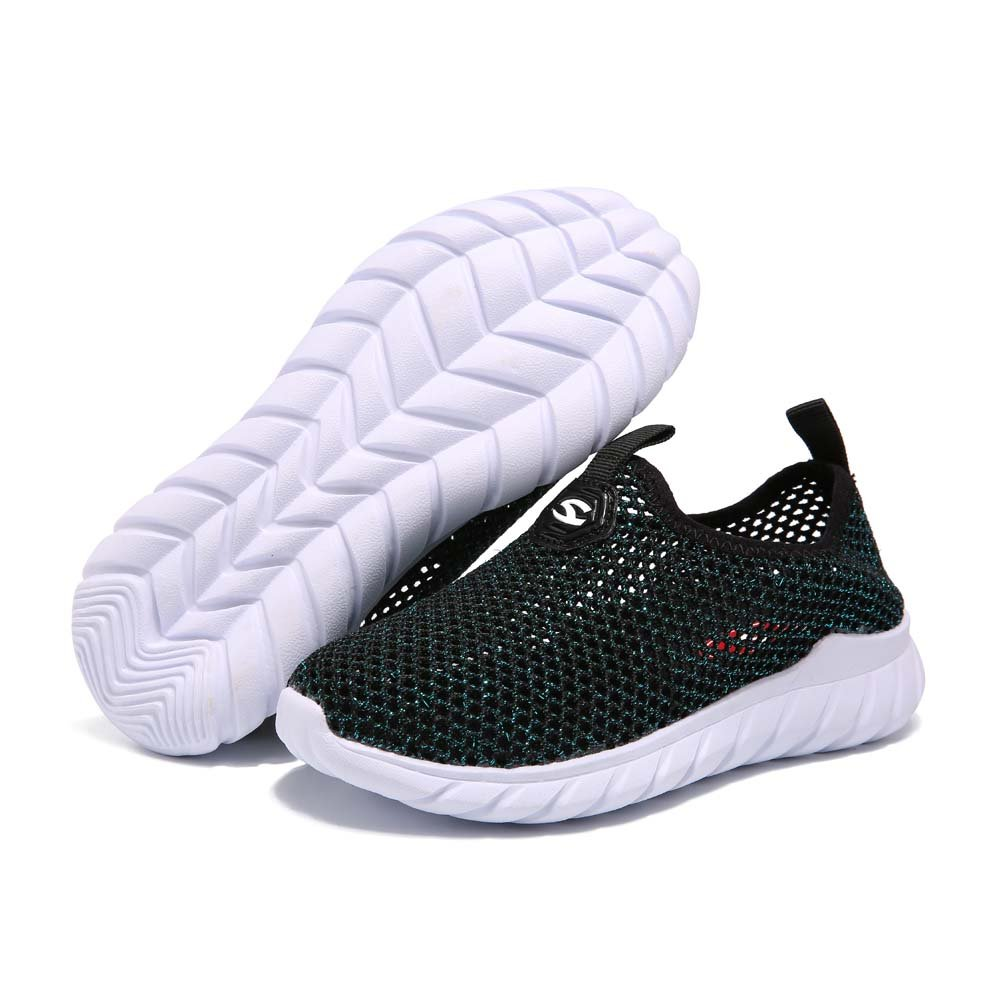 AUTUWT Boys Breathable Mesh Sneakers Lightweight Kids Casual Strap Running Shoes Green 30 by AUTUWT (Image #6)