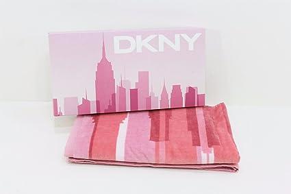 DKNY funda rígida para mujer rosa toalla playa/gimnasio/toalla de baño. En