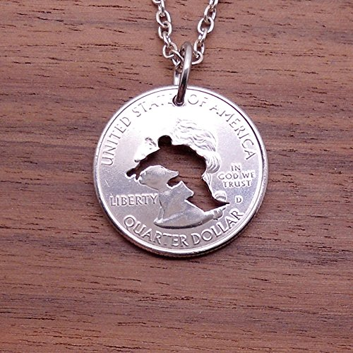 Snowboard Necklace Pendant or Keychain Keyring Cut In A Quarter Coin