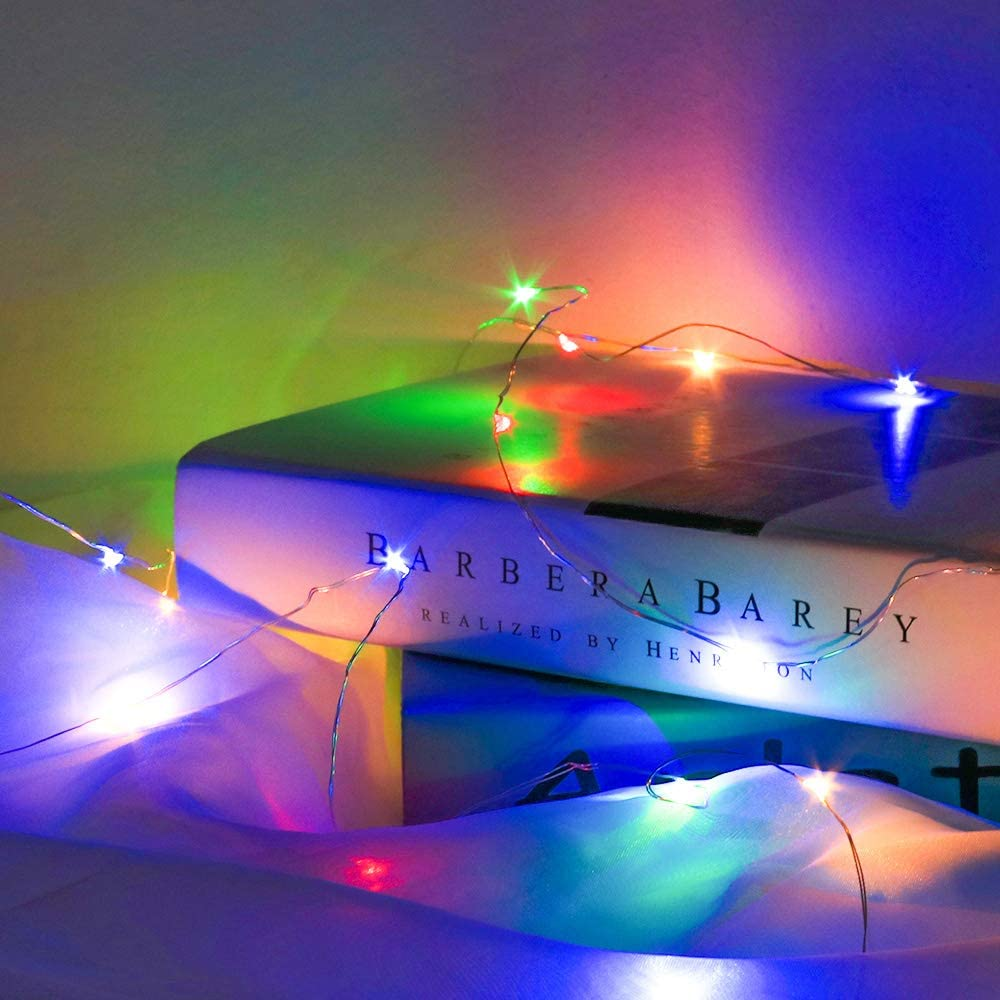 Balc/ón Boda,Fiesta 20M 200 Leds Luces de Hadas L/ámpara de Alambre de Cobre Cadena Mando a Distancia con 8 Modos Decoraci/ón para Navidad Interior y Exterior Galapare Guirnalda Luces Pilas