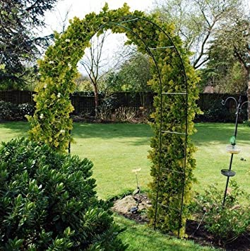 Captivating 2.4m Steel Garden Arch For Climbing Plants. Trellis. Outdoor Path Feature.  Roses