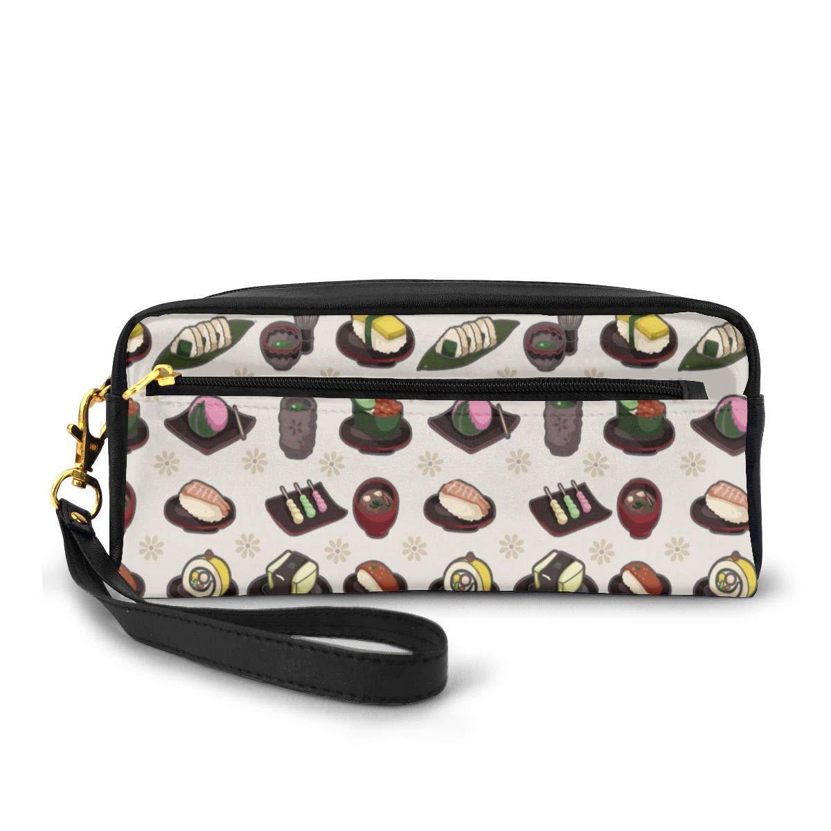 Japanese Food Canvas Makeup Bag Pouch Purse Handbag Organizer with Zipper