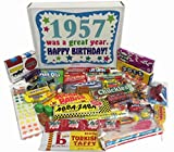 60th Birthday Gift Basket Box of Nostalgic Retro Candy from Childhood for a ...