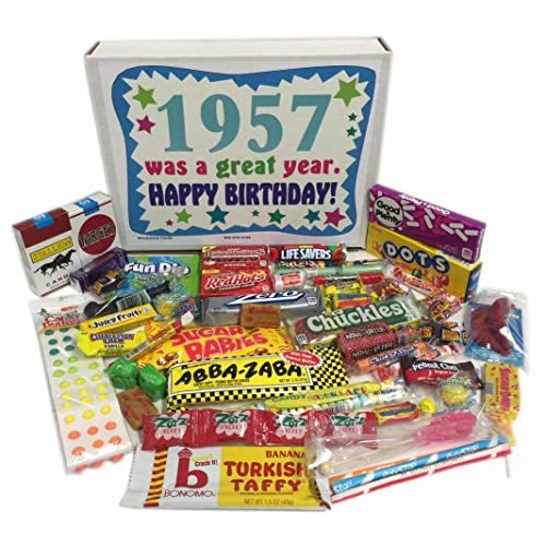 70OFF 60th Birthday Gift Box Of Nostalgic Retro Candy From Childhood For A 60 Year Old Man Or Woman Born In 1957