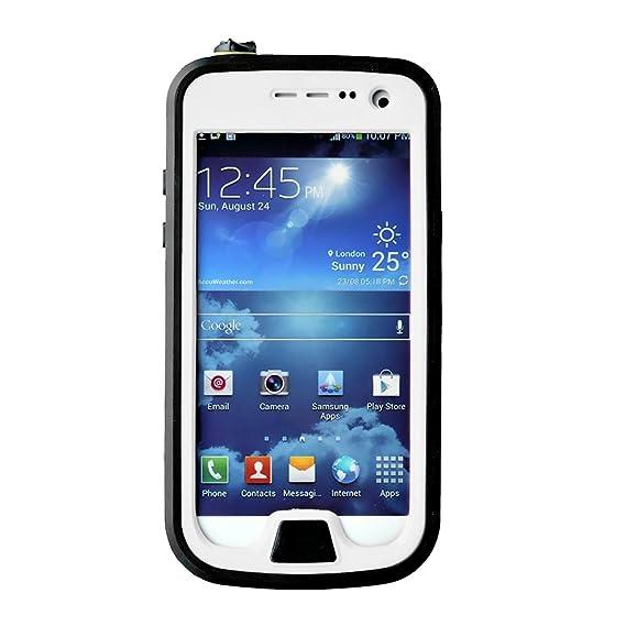 big sale bc7d9 04225 Samsung Galaxy S4 Mini Case, LERBO Waterproof Shockproof Durable Full  Sealed Protection Case Cover for Samsung Galaxy S4 Mini(White)