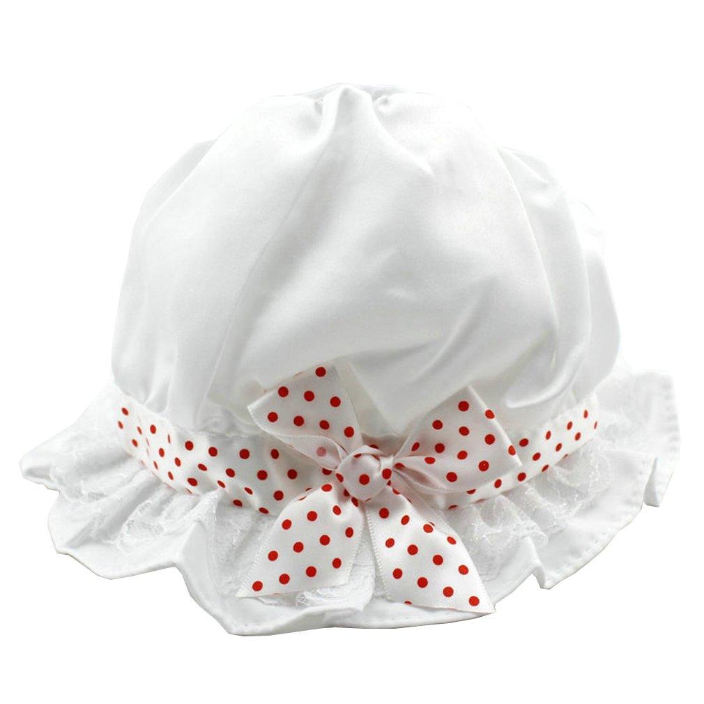 YueLian Newborn Baby Girl Boy Sun Hat Cotton Dot Bow Bucket Hats Caps for Babies