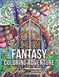 Fantasy Coloring Adventure: A Magical World of Fantasy Creatures, Enchanted Animals, and Whimsical Scenes