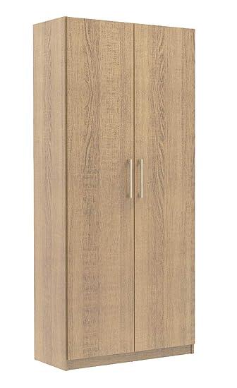 Madesa 2 Door Cupboard 5 Shelves Wardrobe 1 8m Tall Storage Wooden