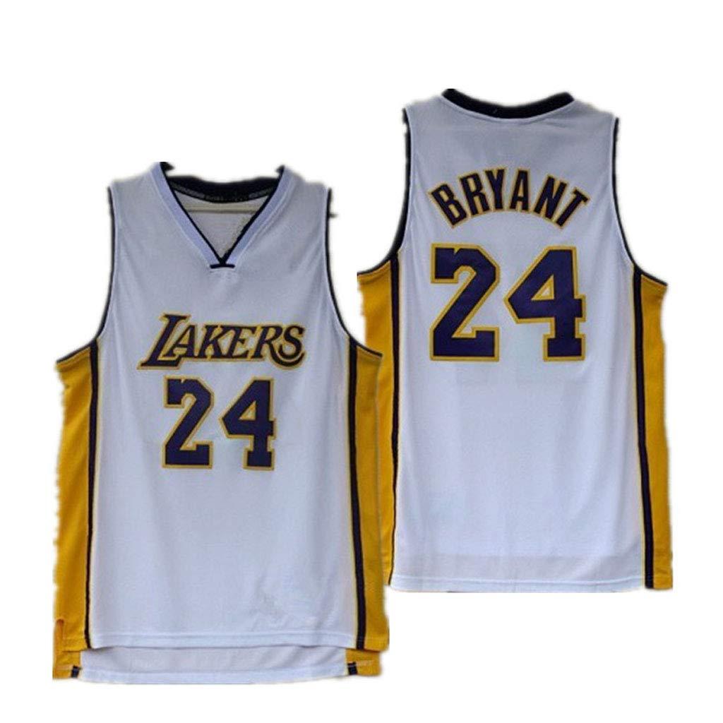cjbaok Lakers Kobe # 24 Kobe Bryant Rev 30 Uniforme de Baloncesto Bordado Jersey Camiseta Deportiva de Manga Corta