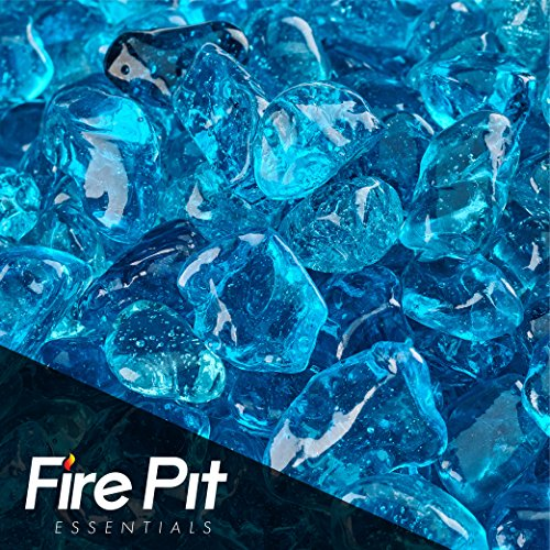 Fireglass Fireplace and Firepit Eco Glass, 10-pound, Sky Blue For Sale
