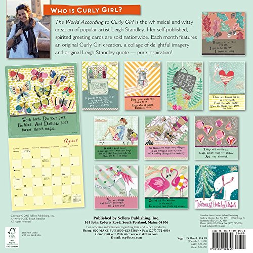 The World According to Curly Girl 2018 Wall Calendar Photo #4