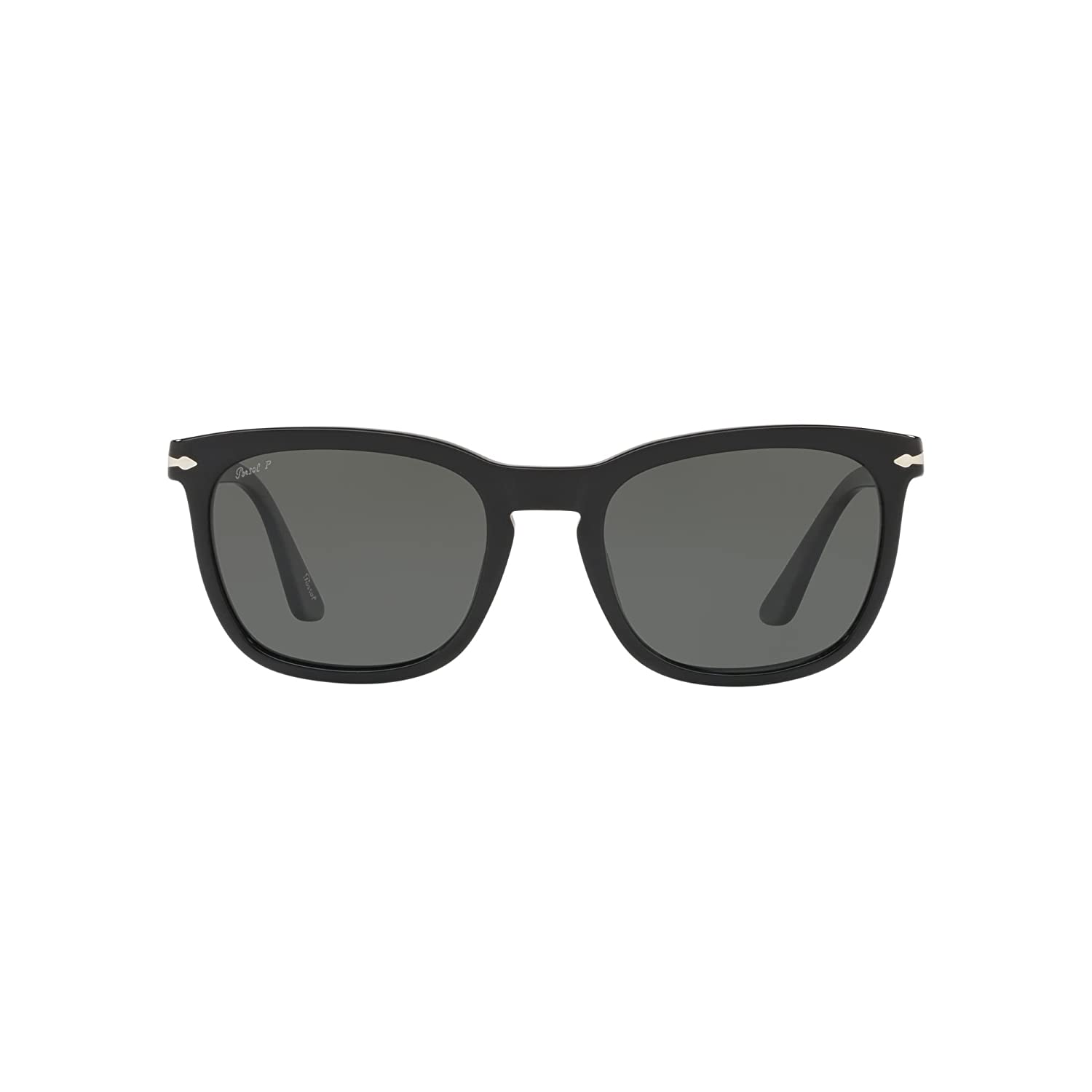 0372e3a412 Persol keyhole Square Sunglasses in Black Green Polarised PO3193S 95 58 55   Amazon.co.uk  Clothing