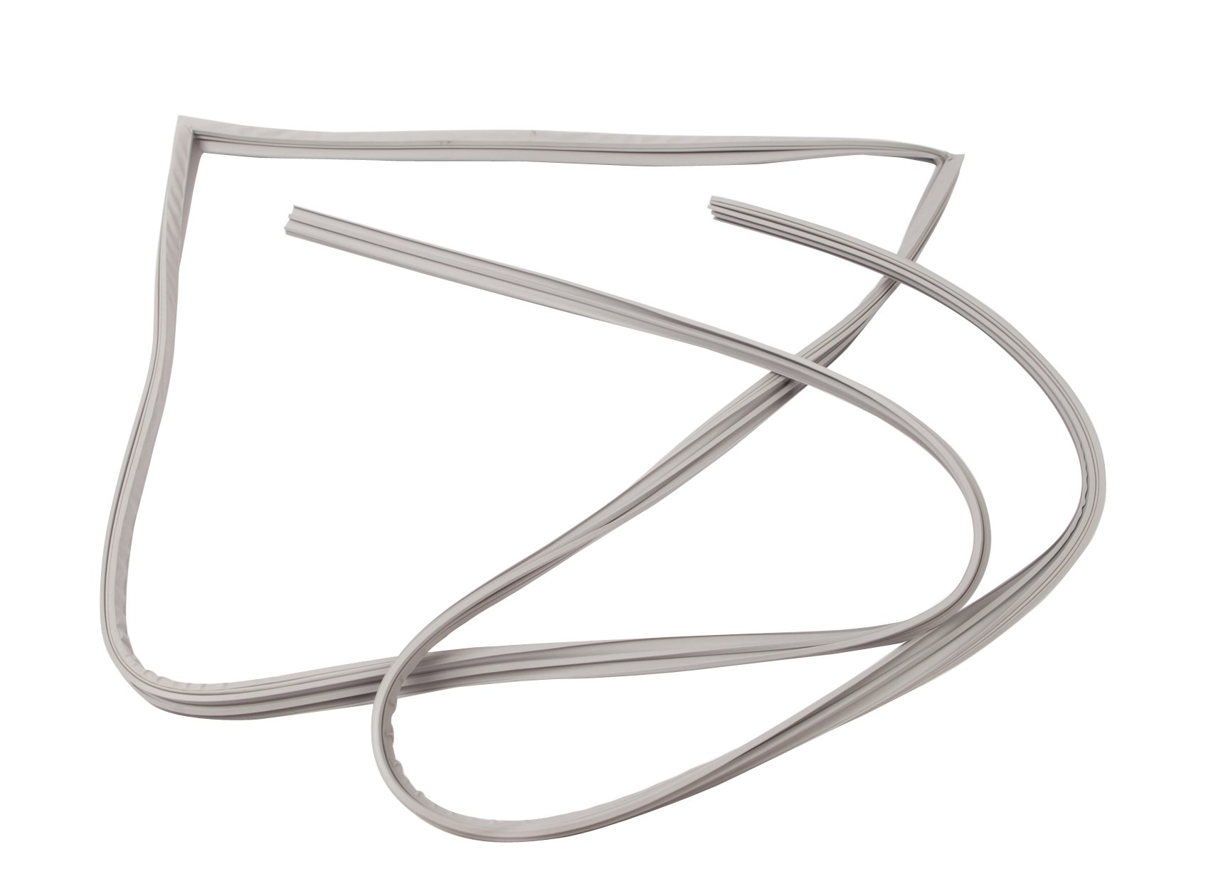 Delfield 1702211 Snap-In 3 Side Stainless Steel Door Gasket 72 Inch Long with 14 Inch Sleeper