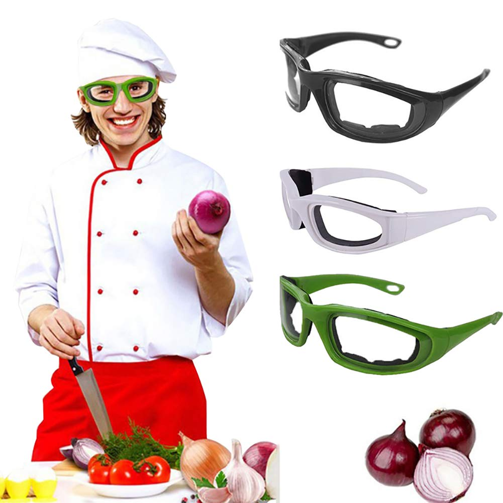 eroute66 Tears Free Onion Goggles Glasses Built In Sponge Kitchen Slicing Eye Protect Green by eroute66 (Image #1)
