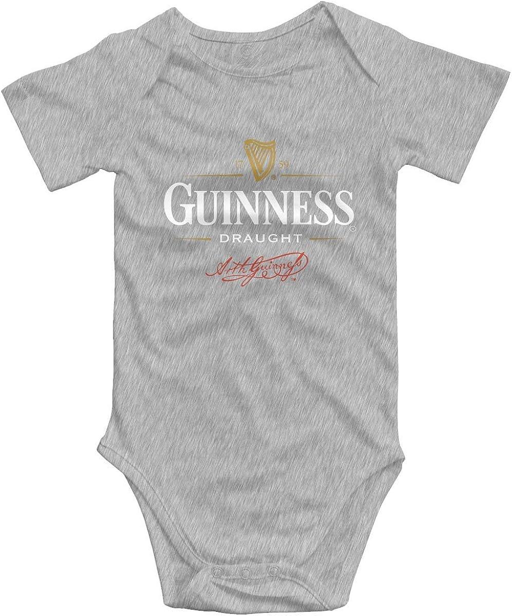 Irener Body per Neonato a Maniche Corte Newborn Baby Guinness Draught Logo Cotton Short-Sleeve Rompers Playsuits Toddler Boys Girls