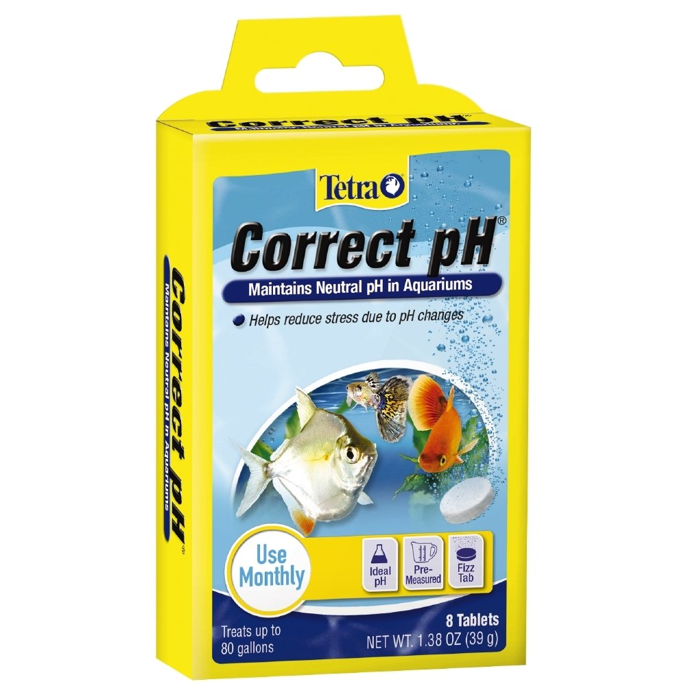Tetra Correct pH Tablets 8 Count, For aquarium Water