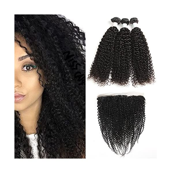 Miss Cara Brazilian Kinky Curly Hair 3 Bundles With Frontal