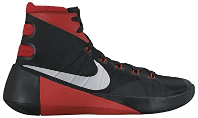 nike basketball shoes red and black
