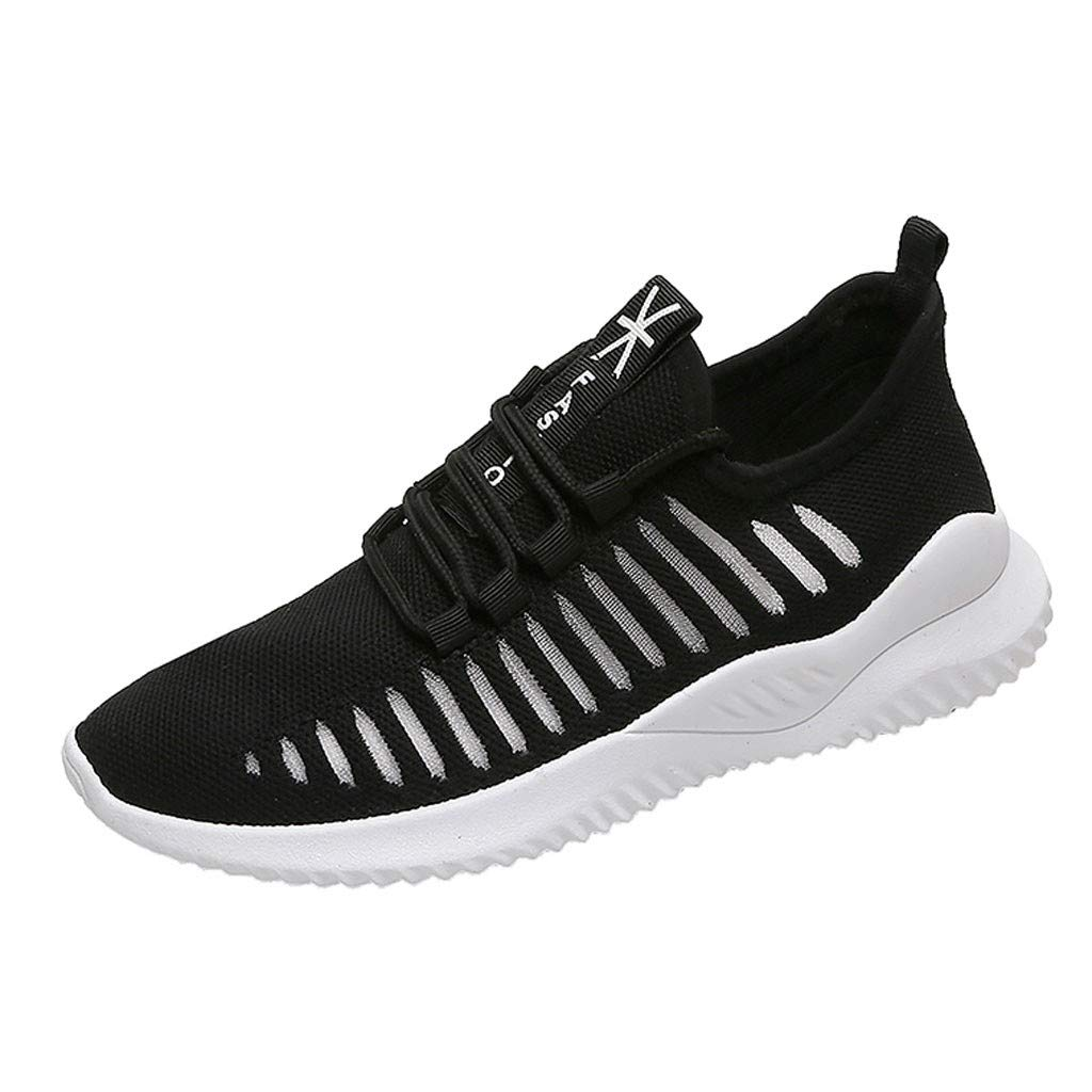 New 2019 Haalife◕‿Women's Breathable mesh Sneakers Slip On Lightweight Casual Running Shoes Black