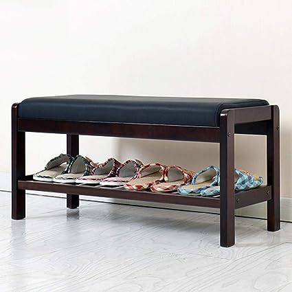 Shoe rack Feifei Zapatero de Madera, Taburete de Pasillo, Banco de Zapatos, Bolso