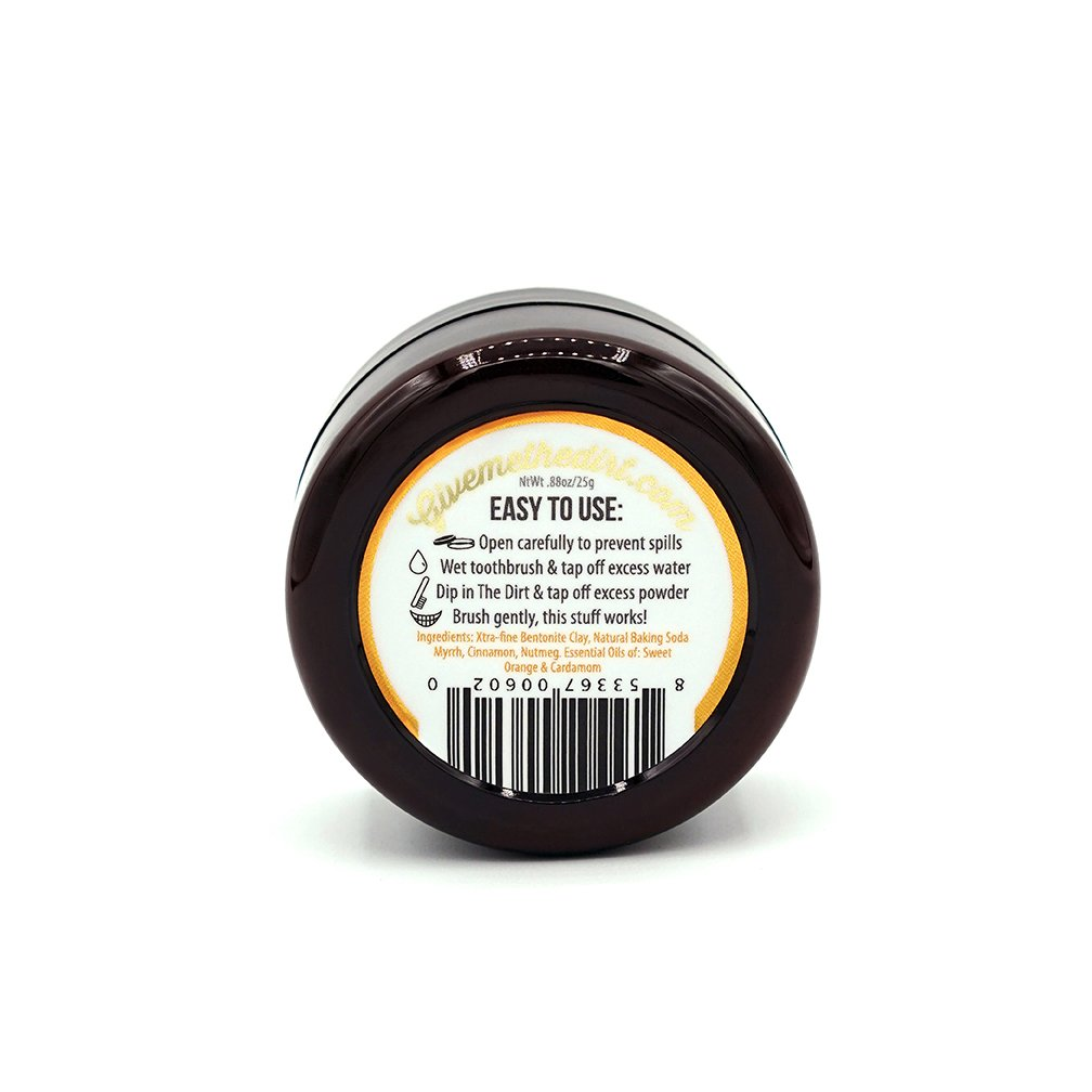 The Dirt All Natural Tooth Powder For Organic Teeth Whitening, 3 Month Tub 0.7 oz by The Dirt (Image #2)