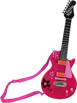 Yvsoo Guitarra Juguete,6 Cuerdas Guitarra Eléctrica para Niños ...