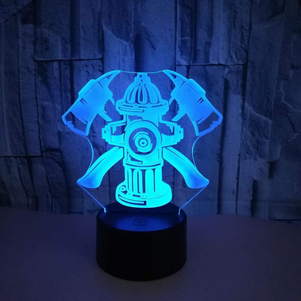BFMBCHDJ 7 colores 3D LED luz nocturna herramientas de lucha ...