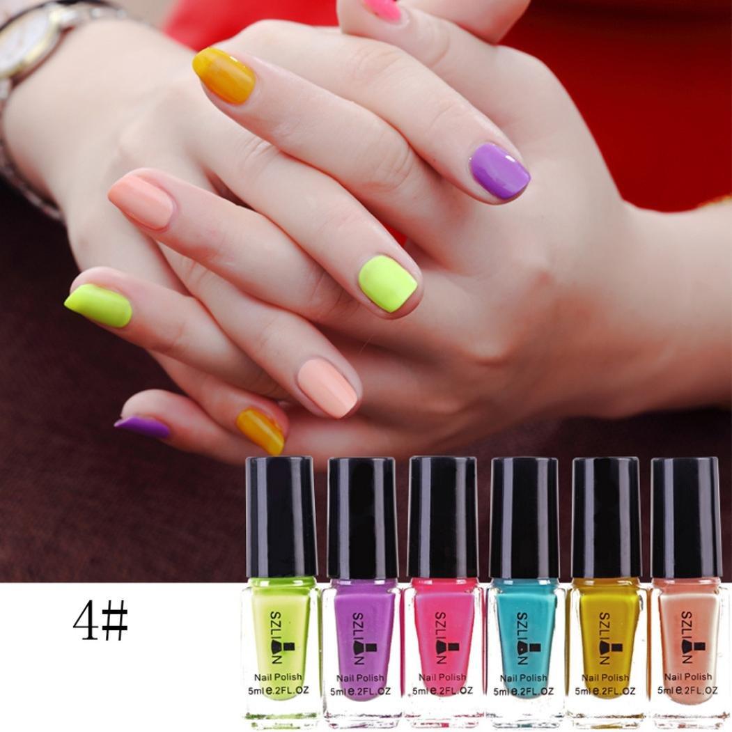 Amazon.com : 6Pcs Nail Chrome UV Gel Polish, Iuhan Womens Nail Polish Magic Mirror Effect Chrome Nail Art Polish Varnish (D) : Beauty
