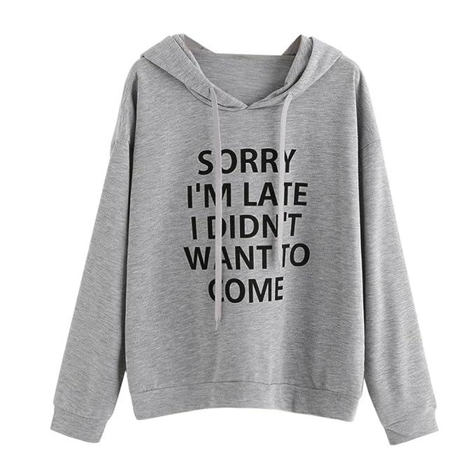 2290e11446 Print Sweatshirt,Hansee Frauen O-Neck Hoodie Jumper Langarm Buchstabe  Pullover Oberteile (S