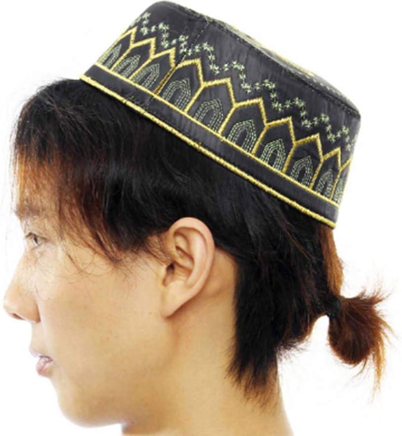 Islamische Gebetsm/ütze M/ütze Topi Kufi runde M/ütze Kopf muslimische M/ütze islamische Mode Eid Ramadan Herren Accessoires