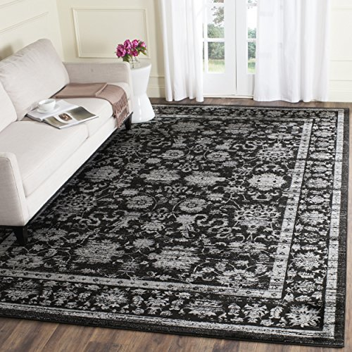 Black Transitional Rug (Safavieh Vintage Collection VTG442P Transitional Oriental Black and Light Grey Distressed Area Rug (8' x 11'))