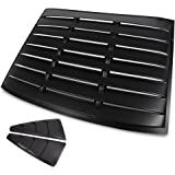 For 05-14 Mustang GT 2DR Coupe Black Side Vent+Rear Window Scoop Louver Cover