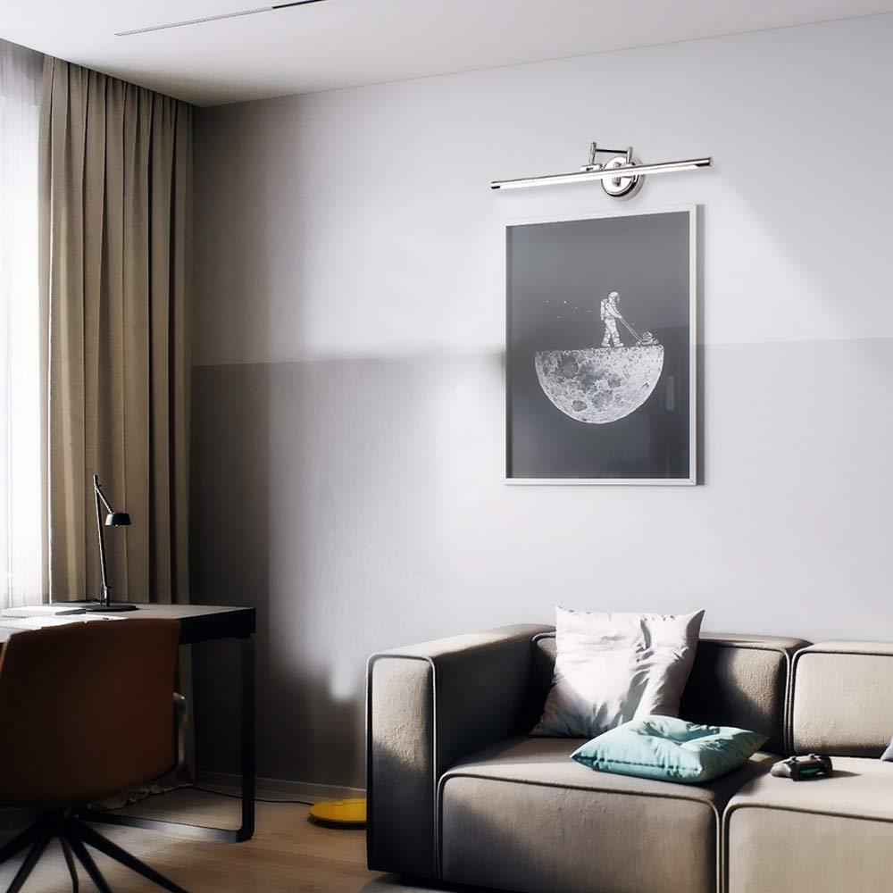E/&Green Vanity Light Fixture 14W 24.4 inches Vanity Mirror Light Arm Length Adjustable Wall Light Chrome for Bathroom Bedroom Dressing Room 6000K Cool White Light jishi