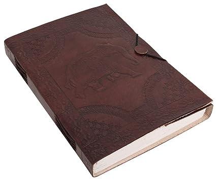 Gusti Cuir Nature Nele Agenda Bloc Note Bloc A Dessin En Cuir Livre Couverture En Cuir Veritable Naturel Calepin Cahier Journal Intime Cadenas Album