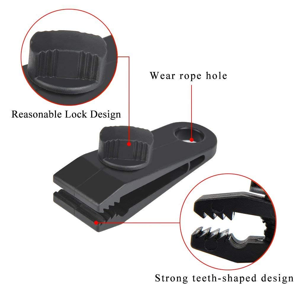 Winter Boat Cover High Strength Plastic Tent Clamp Clips Withstand 60mph Strong Wind for Holding Up Tarp Canopy Youjia 10pcs Heavy Duty Thumb Screw Tarp Clips Car Cover Pool Cover YJ-100