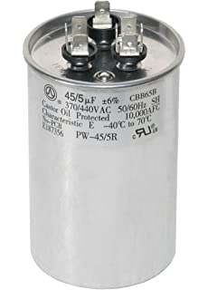 Amazon Genteq C3455r Ge Round Capacitor 45 5 Uf Mfd 97f9895. Powerwell 455 Mfd Uf 370 Or 440 Volt Dual Run Round. Wiring. 5 45 Capacitor Wire Diagram At Scoala.co